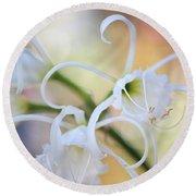 Spider Lily 3 Round Beach Towel