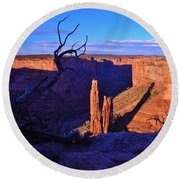 Spider Rock Round Beach Towel