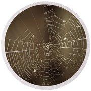 Spider Web 1.0 Round Beach Towel