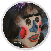 Spiderwoman Scarecrow Round Beach Towel