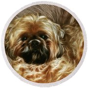 Spike Round Beach Towel