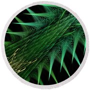 Spiny Branch Round Beach Towel