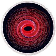 Spiral Abstract 24 Round Beach Towel