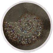 Spiral Textures Round Beach Towel