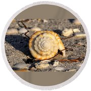 Spirals From The Sea Round Beach Towel