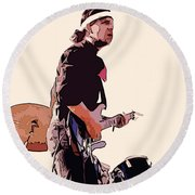 Spirit At The Gorge 9f Round Beach Towel
