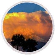 Spirit In The Clouds Round Beach Towel by Shannon Harrington