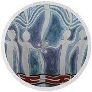 Spirit Watchers  Round Beach Towel