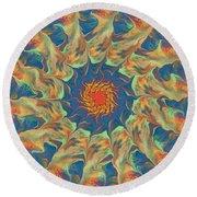 Spiritual Pinwheel Round Beach Towel