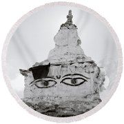 Spirituality In The Himalayas Round Beach Towel