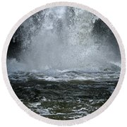 Splash Down Round Beach Towel