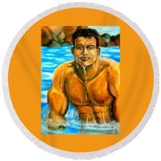 Splash Round Beach Towel
