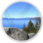 Splendid Lake Tahoe Round Beach Towel