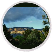 Splendor Of The Mountains Round Beach Towel