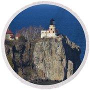 Split Rock Lighthouse 76 Round Beach Towel
