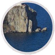 Split Rock Lighthouse 77 Round Beach Towel