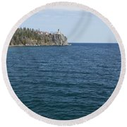 Split Rock Lighthouse 80 Round Beach Towel