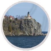 Split Rock Lighthouse 83 Round Beach Towel