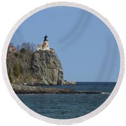 Split Rock Lighthouse 89 Round Beach Towel