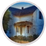 Spooky Old House Round Beach Towel