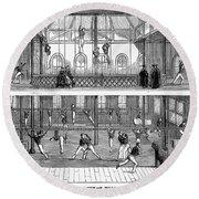 Sports: Gymnastics, 1859 Round Beach Towel