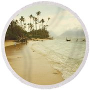 Sprecks Beach Round Beach Towel