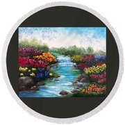 Spring Creek Round Beach Towel