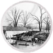 Spring Flood, 1903 Round Beach Towel
