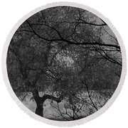 Spring For Leaves  Round Beach Towel