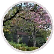 Spring In Bloom At The Japanese Garden Round Beach Towel