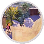 Spring In Cyprus Round Beach Towel