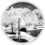 Spring In Infrared Round Beach Towel
