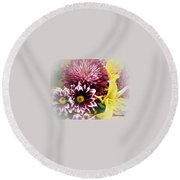 Spring Mix Round Beach Towel