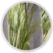 Spring Time In The Meadow Round Beach Towel