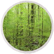 Spring Woods Round Beach Towel