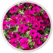Springtime Flowers Round Beach Towel