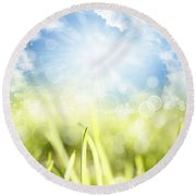 Springtime Round Beach Towel by Les Cunliffe