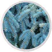 Spruce Conifer Nature Art Prints Trees Round Beach Towel