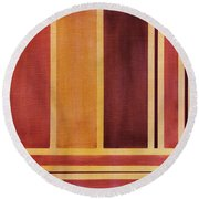 Square With Lines 2 Round Beach Towel
