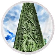 St Augustines Cross Close Up Round Beach Towel