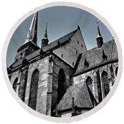 St. Bartholomew Cathedral - Pilsen Round Beach Towel