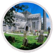 St Canices Cathedral &, Round Tower Round Beach Towel