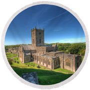 St Davids Cathedral 3 Round Beach Towel