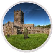 St Davids Cathedral 6 Round Beach Towel