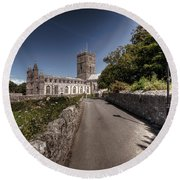 St Davids Cathedral Pembrokeshire 2 Round Beach Towel