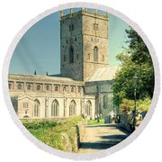 St Davids Cathedral Pembrokeshire Lomo Round Beach Towel