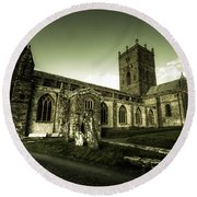 St Davids Cathedral Round Beach Towel