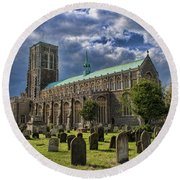 St Edmund King And Martyr Southwold Round Beach Towel