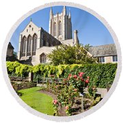 St Edmundsbury Cathedral Round Beach Towel