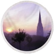 St Eugenes Cathedral, From Brooke Park Round Beach Towel